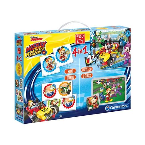 CLEMENTONI MICKEY AND THE ROADSTER RACERS Spielesammlung Edukit 4 in 1 1
