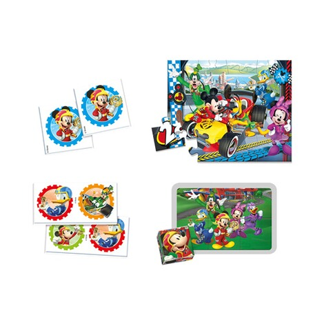 CLEMENTONI MICKEY AND THE ROADSTER RACERS Spielesammlung Edukit 4 in 1 2