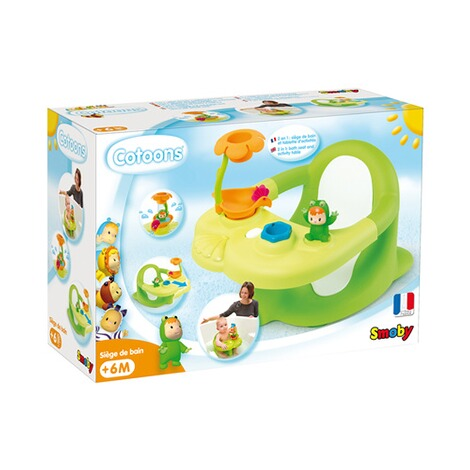 SMOBY COTOONS Baby-Badesitz und Activity Tablett 2 in 1  grün 3