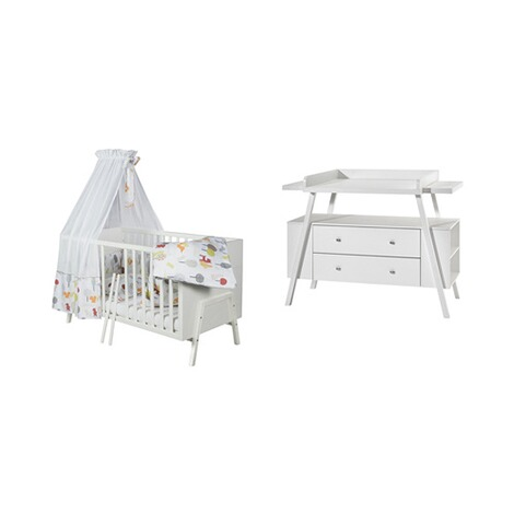 SCHARDT  2-tlg. Babyzimmer Holly White 1