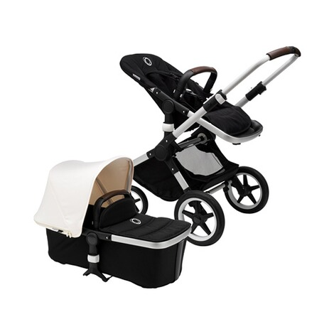 Bugaboo FOX Kombikinderwagen  alu/black/fresh white 1