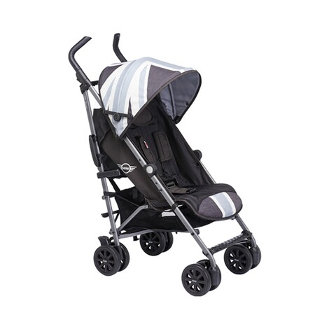 EASYWALKER MINI Buggy+ mit Liegefunktion  Union Jack Black & white 1