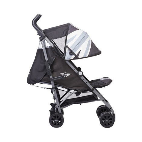 EASYWALKER MINI Buggy+ mit Liegefunktion  Union Jack Black & white 2