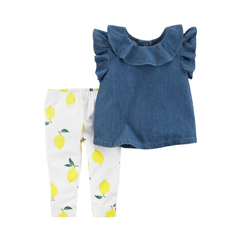 CARTER´S  2-tlg. Set Tunika Flügelarm und Leggings Lemon 1