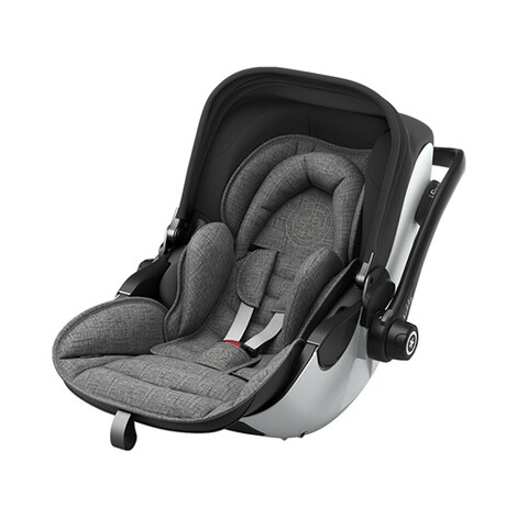 kiddy  Evoluna i-Size2 Babyschale mit Liegefunktion incl. Isofix Base 2  Grey Melange Icy Grey 1