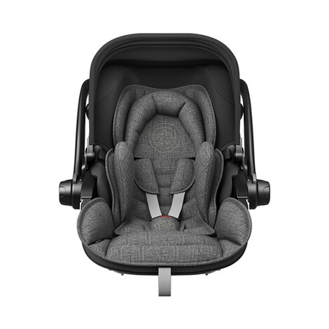 kiddy  Evoluna i-Size2 Babyschale mit Liegefunktion incl. Isofix Base 2  Grey Melange Icy Grey 3