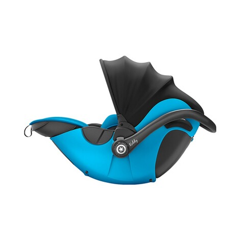 kiddy  Evoluna i-Size2 Babyschale mit Liegefunktion incl. Isofix Base 2  Summer Blue 2