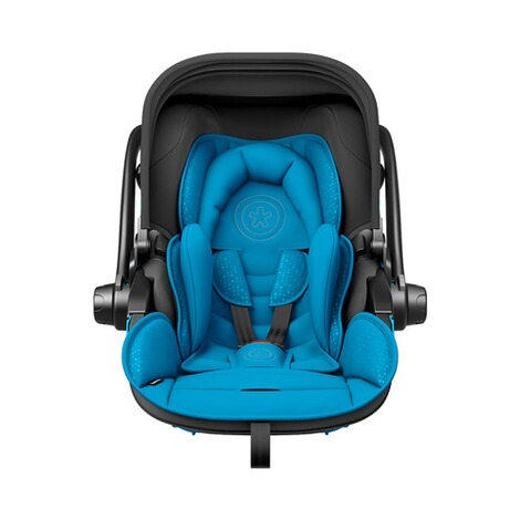 kiddy  Evoluna i-Size2 Babyschale mit Liegefunktion incl. Isofix Base 2  Summer Blue 3