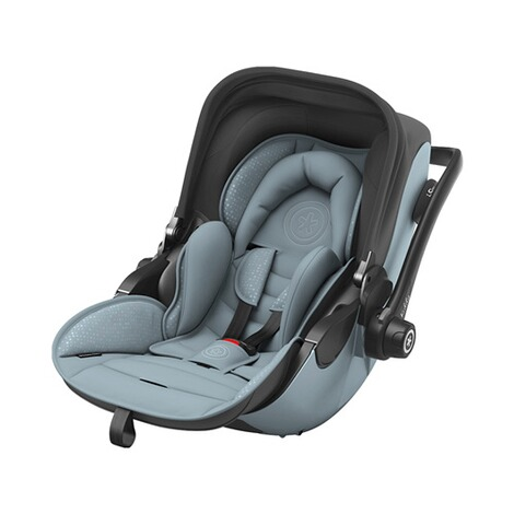 kiddy  Evoluna i-Size2 Babyschale mit Liegefunktion incl. Isofix Base 2  Polar Grey 1
