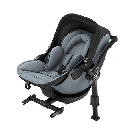 kiddy  Evoluna i-Size2 Babyschale mit Liegefunktion incl. Isofix Base 2  Polar Grey 4