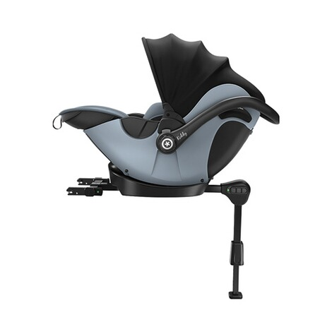 kiddy  Evoluna i-Size2 Babyschale mit Liegefunktion incl. Isofix Base 2  Polar Grey 5