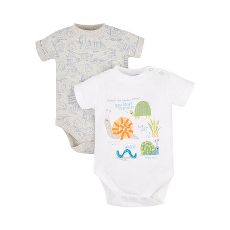 MOTHERCARE  2er-Pack Bodys kurzarm Tiere 1