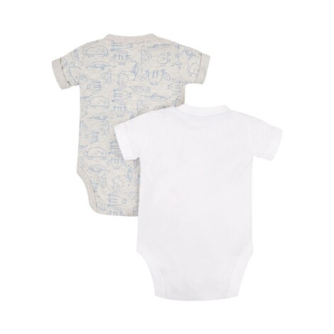 MOTHERCARE  2er-Pack Bodys kurzarm Tiere 2