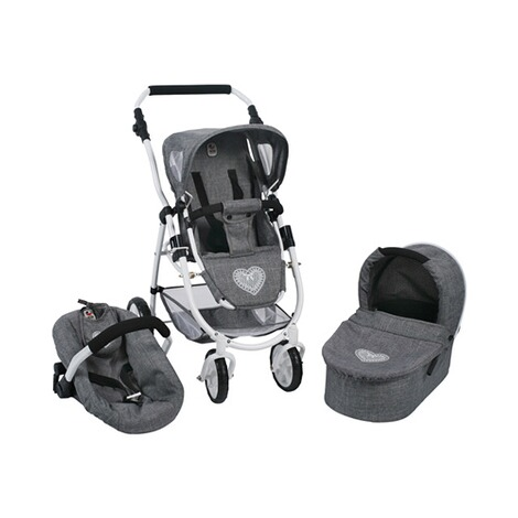 BAYER CHIC  Kombi-Puppenwagen 3 in 1 Emotion All In  jeans/grau 1