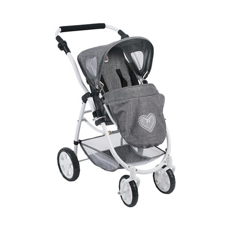 BAYER CHIC  Kombi-Puppenwagen 3 in 1 Emotion All In  jeans/grau 4