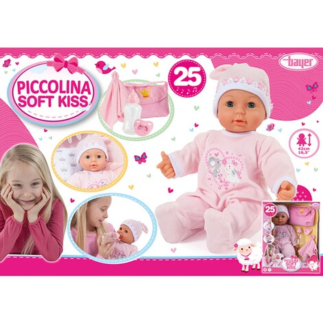 BAYER DESIGN  Puppe Piccolina Soft Kiss 42 cm 8