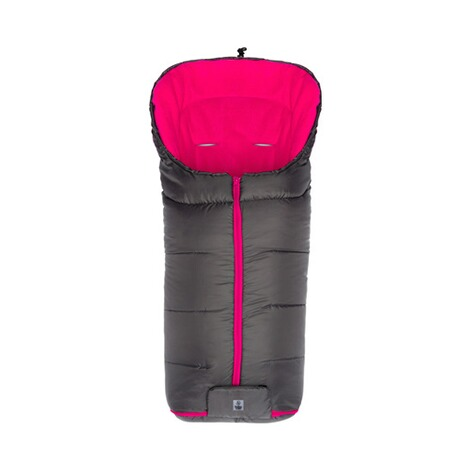 babycab  Winter-Fußsack Eco big für Kinderwagen, Buggy  grau/pink 1