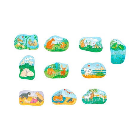 Haba  Puzzle - 1, 2, Puzzelei Tierfamilien 2