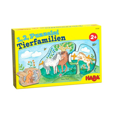 Haba  Puzzle - 1, 2, Puzzelei Tierfamilien 1