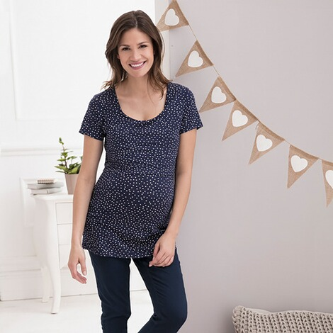 2hearts COSY & WILD Umstands-Hose Skinny  blau 6
