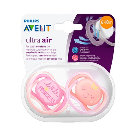 Philips Avent  2er-Pack Schnuller, SCF343/22, Ultra-Air, 6-18M 4
