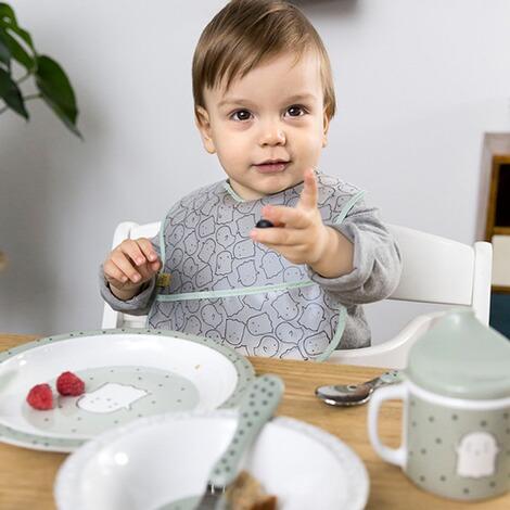 L/ÄSSIG Teller Kinder Baby Kleinkind rutschfest sp/ülmaschinengeeignet Melamin//Plate Little Chums Dog