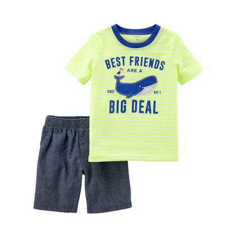 CARTER´S  2-tlg. Set T-Shirt und Jeans-Shorts Wal 1