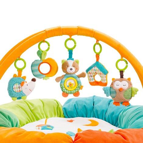 fehn spielbogen mit 3 d activity nest eule sleeping forest online kaufen baby walz. Black Bedroom Furniture Sets. Home Design Ideas