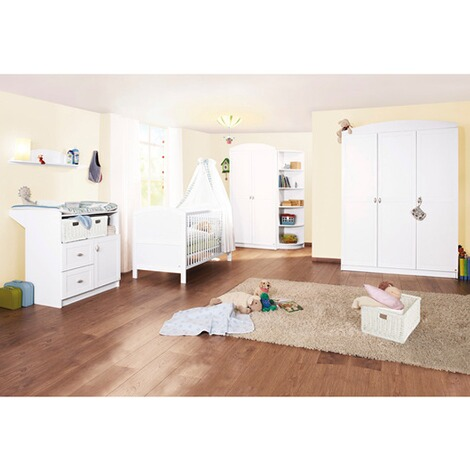 pinolino 3 tlg babyzimmer laura online kaufen baby walz. Black Bedroom Furniture Sets. Home Design Ideas