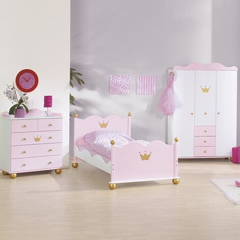 3-tlg. Kinderzimmer Prinzessin Karolin