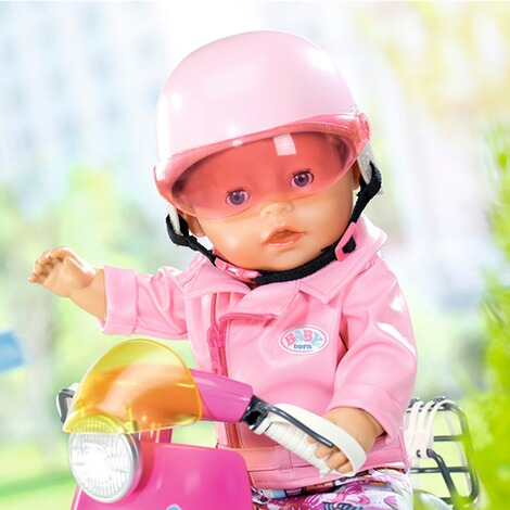 Zapf Creation BABY BORN Puppen City Scooter Helm 6