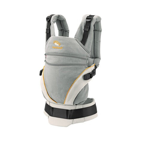 manduca® XT Babytrage, 3 Tragepositionen  grey-orange 1