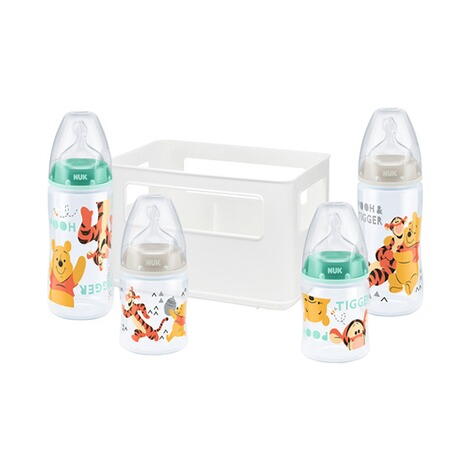 NUK DISNEY WINNIE PUUH 5-tlg. Flaschenset Fist Choice Plus 150-300 ml, Kunststoff, 0-6M  weiß 1