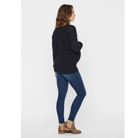 MAMALICIOUS®  Umstands-Pullover Strick New Crystaline  blau 6
