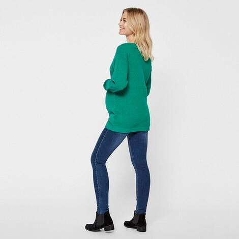 MAMALICIOUS®  Umstands-Pullover Strick New Crystaline  grün 6
