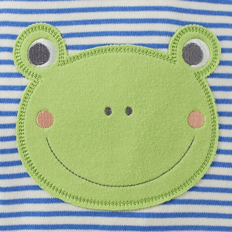 Bornino HAPPY DAYS Strampler-Set Ringel Frosch 8