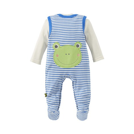 Bornino HAPPY DAYS Strampler-Set Ringel Frosch 3