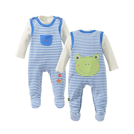 Bornino HAPPY DAYS Strampler-Set Ringel Frosch 1