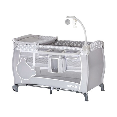 HauckBabycenter Reisebett  Teddy Grey 1