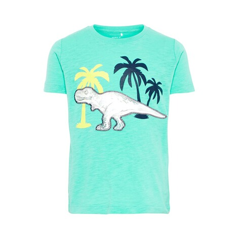 NAME IT  T-Shirt Effekt-Dino 1