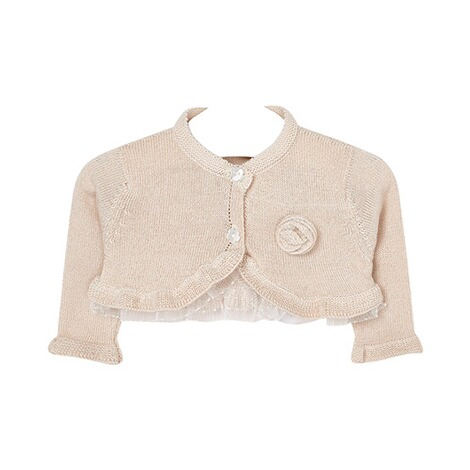 Mayoral  Strickbolero Blume Metallic 1