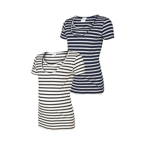 MAMALICIOUS®  2er-Pack Umstands- und Still-T-Shirt Lea Organic Cotton 1