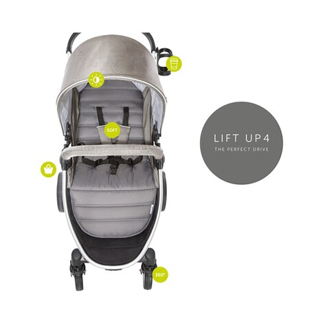 HAUCK  Lift Up 4  Buggy mit Liegefunktion  Charcoal 4