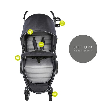 HAUCK  Lift Up 4  Buggy mit Liegefunktion  Caviar/Stone 3