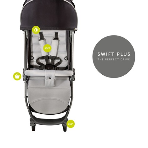 Hauck  Swift Plus Buggy mit Liegefunktion  Silver/Charcoal 6