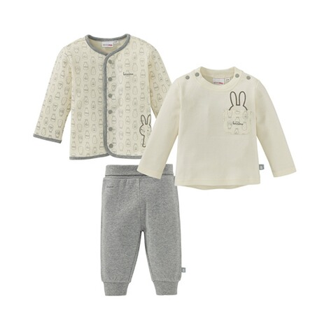 Bornino FARM ANIMALS 3-tlg. Set Jacke, Shirt langarm und Hose 1