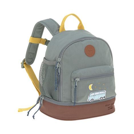 Lässig  Kindergartenrucksack Mini Backpack Adventure  blau Bus 1