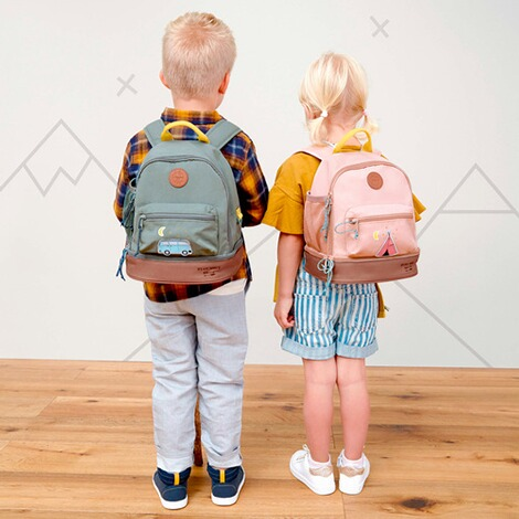 Lässig  Kindergartenrucksack Mini Backpack Adventure  blau Bus 4