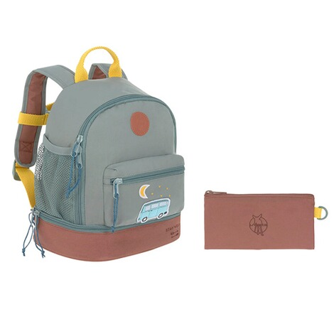 Lässig  Kindergartenrucksack Mini Backpack Adventure  blau Bus 10