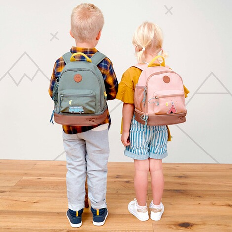 Lässig  Kindergartenrucksack Mini Backpack Adventure  rosa Tipi 4